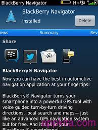 تحميل برنامج نفجيتر للبلاك بيري BlackBerry Navigator v7.1.0.609. coobra.net