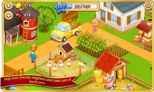 لعبه مزرعة المدينة Farm Town MOD APK للأندرويد مهكرة coobra.net