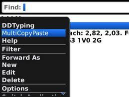 برنامج النسخ المتعدد Multiple Copy Paste للبلاك بيري coobra.net