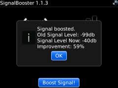 برنامج Signal Booster v3.1.0 لتقوية الإرسال  للبلاك بيري coobra.net