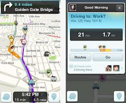 ����� Waze Social GPS Maps & Traffic ������ ����� ����� ��������.